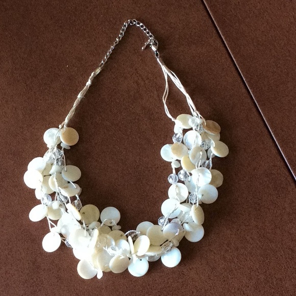 Lucky Brand Jewelry - Shell and Crystal Beaded Necklace by Lucky Brand